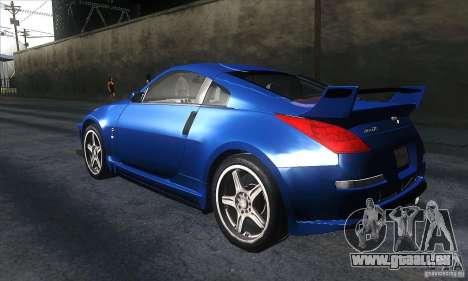 Nissan 350Z Varis pour GTA San Andreas sur la vue arrière gauche