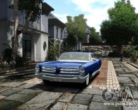 Pontiac Bonneville 1966 für GTA 4 Rückansicht