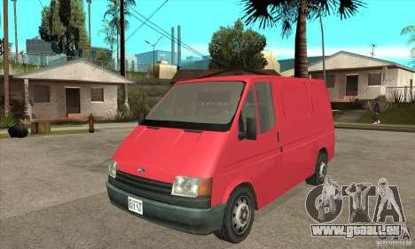 Ford Transit pour GTA San Andreas laissé vue