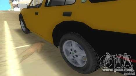Land Rover Freelander pour GTA Vice City sur la vue arrière gauche