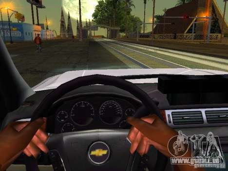 Chevrolet Silverado Rockland Police Department pour GTA San Andreas vue intérieure
