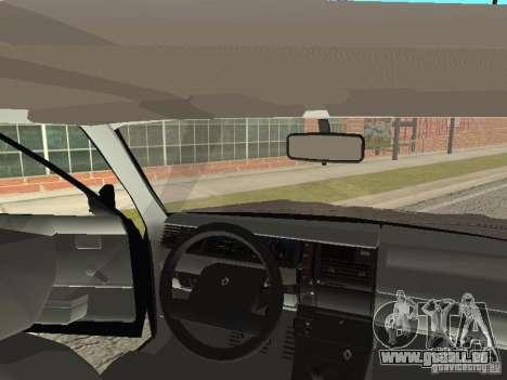 Renault 11 Police pour GTA San Andreas vue intérieure