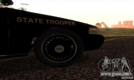 Ford Crown Victoria Florida Police pour GTA San Andreas sur la vue arrière gauche