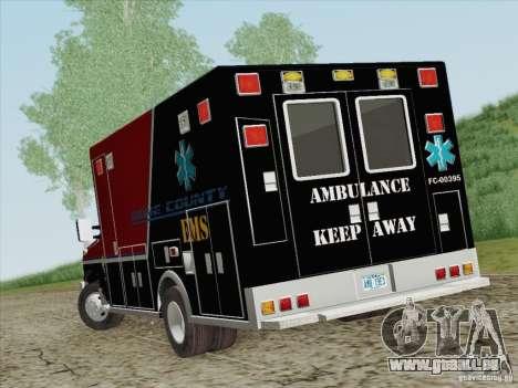 Ford E-350 AMR. Bone County Ambulance für GTA San Andreas zurück linke Ansicht