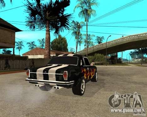 GAZ 2410 Camaro Edition für GTA San Andreas zurück linke Ansicht