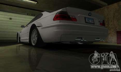 BMW M3 Tuneable pour GTA San Andreas vue de dessus