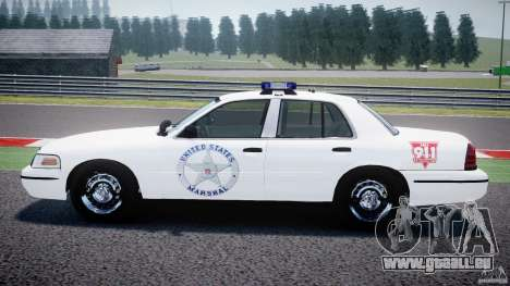 Ford Crown Victoria US Marshal [ELS] für GTA 4 linke Ansicht