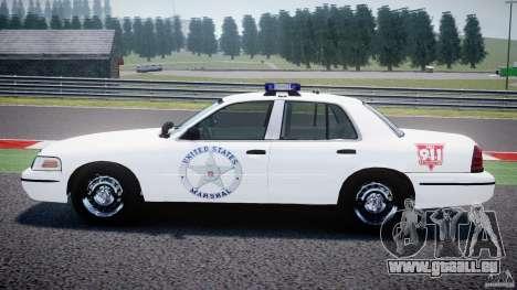 Ford Crown Victoria US Marshal [ELS] pour GTA 4 est une gauche