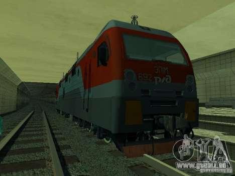 ÈP1M-392 OJSC « CHEMINS DE FER RUSSES » pour GTA San Andreas vue intérieure