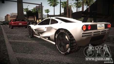 McLaren F1 LM pour GTA San Andreas sur la vue arrière gauche
