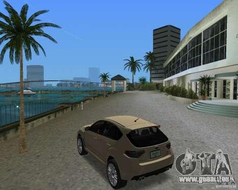 Subaru Impreza WRX STI pour une vue GTA Vice City de la droite