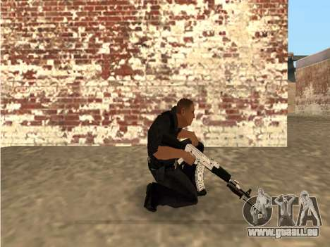 Chrome and Blue Weapons Pack für GTA San Andreas her Screenshot