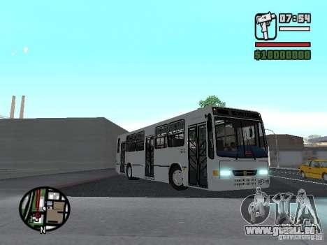 Busscar Urbanus SS Volvo B10M pour GTA San Andreas vue intérieure
