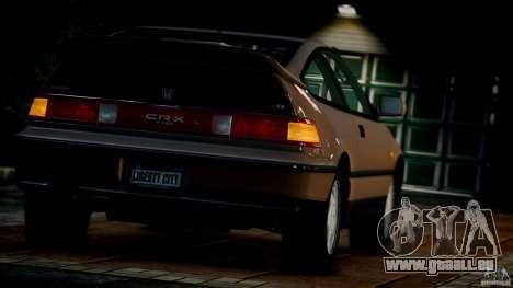 Honda CR-X SiR 1991 pour GTA 4 est un côté