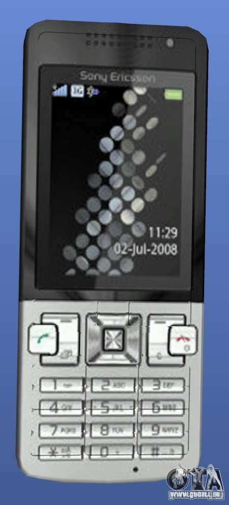 Téléphone mobile Sony Ericsson T700 pour GTA 4