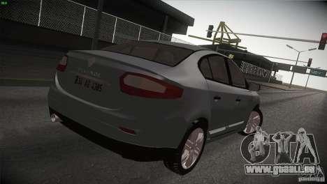 Renault Fluence pour GTA San Andreas laissé vue