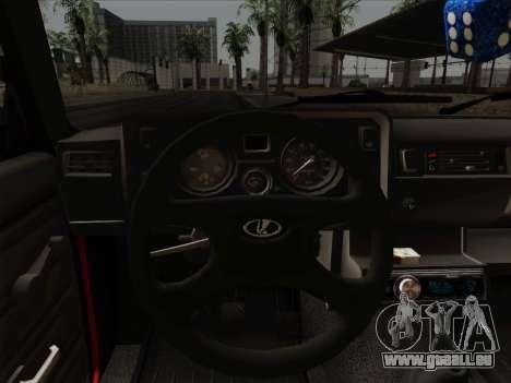 VAZ 21054 pour GTA San Andreas vue de dessous