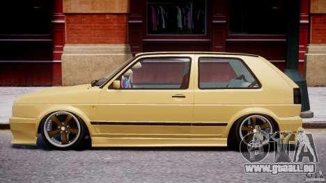 Volkswagen Golf MK2 Tuning pour GTA 4 Vue arrière de la gauche