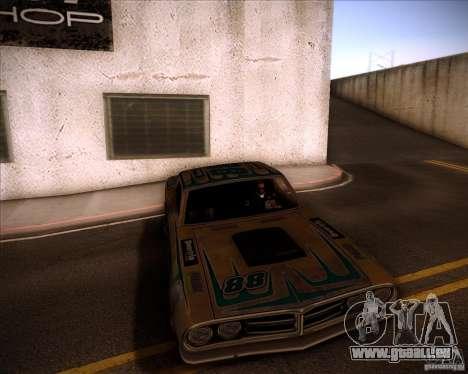 Pontiac Ventura 1971 pour GTA San Andreas sur la vue arrière gauche