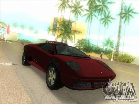 Infernus aus GTA IV für GTA Vice City linke Ansicht