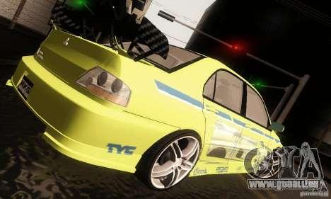 Mitsubishi Lancer Evolution 8 für GTA San Andreas rechten Ansicht