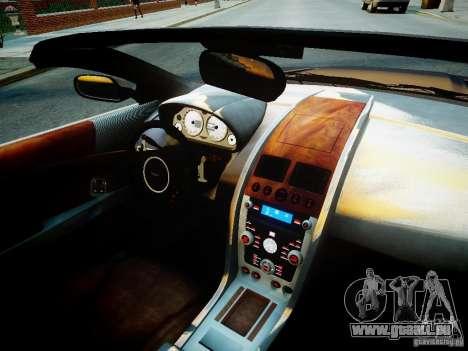 Aston Martin DB9 Volante v2.0 pour GTA 4 est une vue de l'intérieur