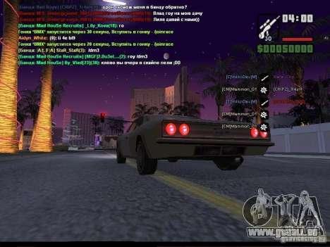 Ciel étoilé v2.0 (pour SA: MP) pour GTA San Andreas sixième écran