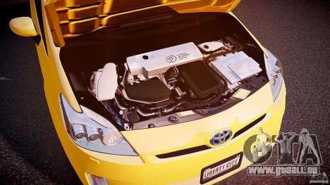 Toyota Prius LCC Taxi 2011 pour GTA 4 est une vue de l'intérieur