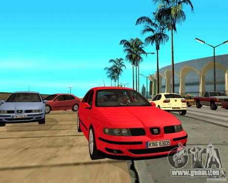 Seat Leon 1.9 TDI pour GTA San Andreas vue arrière