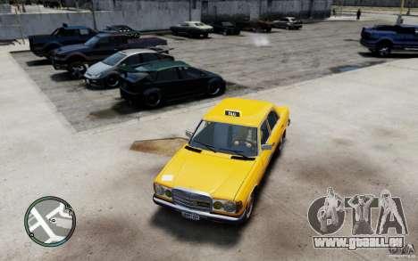 Mercedes-Benz 230 E Taxi pour GTA 4 est une gauche