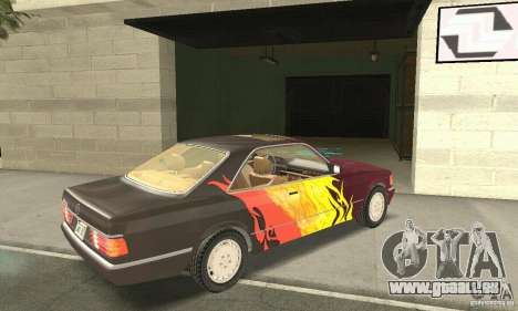Mercedes-Benz W126 560SEC pour GTA San Andreas salon