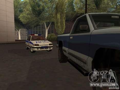 ВАЗ 2114-Polizei für GTA San Andreas zurück linke Ansicht