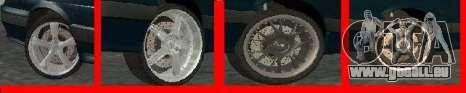 Roues pour LADA 2114 pour GTA San Andreas