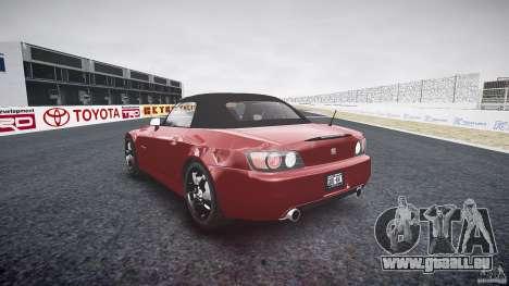 Honda S2000 2002 v2 de recuit pour GTA 4 est une vue de l'intérieur