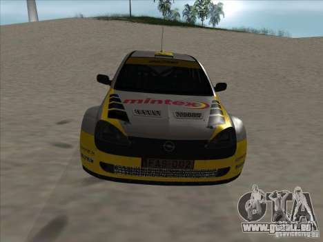 Opel Rally Car für GTA San Andreas Innenansicht