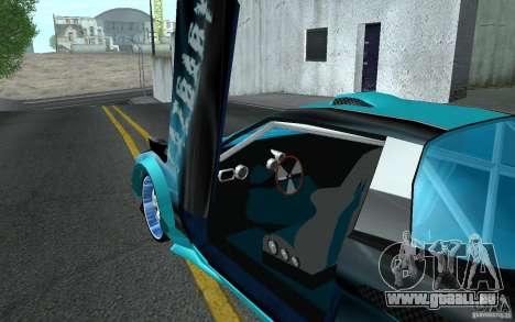 Baby blue Infernus pour GTA San Andreas vue de côté