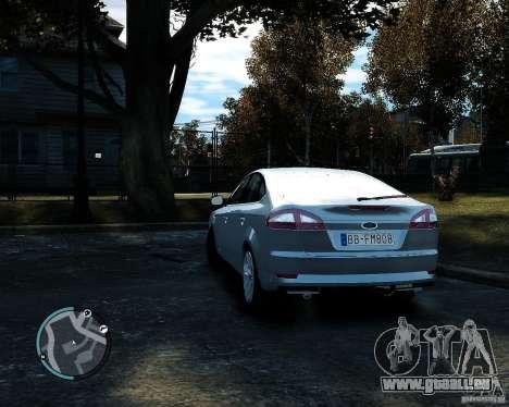 Ford Mondeo 2009 v1.0 pour GTA 4 Vue arrière de la gauche