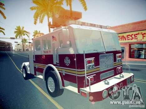 Seagrave Tiller Truck für GTA San Andreas Rückansicht