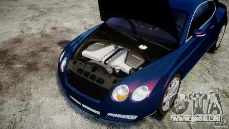 Bentley Continental GT v2.0 pour GTA 4 est une vue de l'intérieur