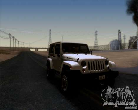 Jeep Wrangler Rubicon für GTA San Andreas rechten Ansicht