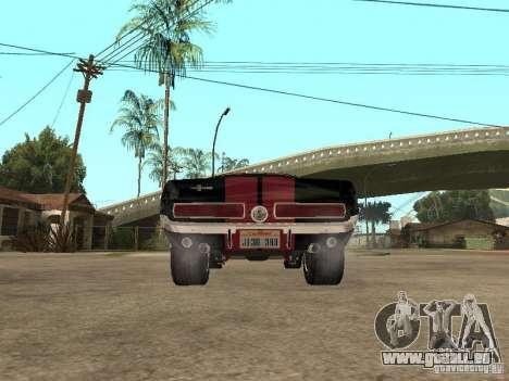 Shelby Mustang GT 500 pour GTA San Andreas vue de droite