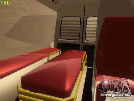Gazelle 32214 Krankenwagen für GTA San Andreas Unteransicht