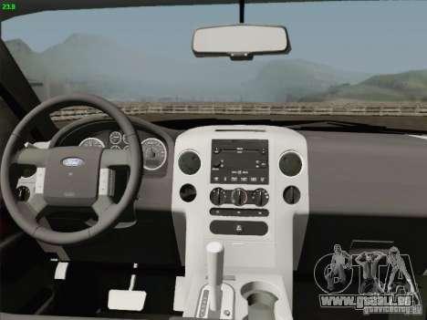 Ford F-150 für GTA San Andreas obere Ansicht