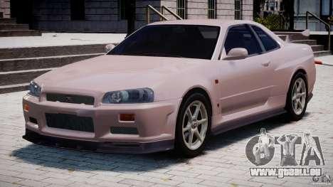 Nissan Skyline GT-R 34 V-Spec pour GTA 4 est une gauche