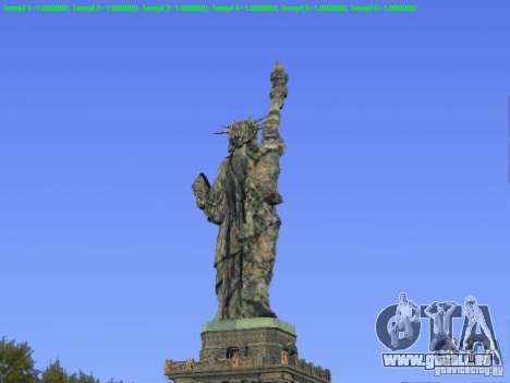 Statue de la liberté 2013 pour GTA San Andreas deuxième écran