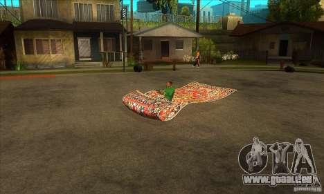 Flying Carpet v.1.1 für GTA San Andreas