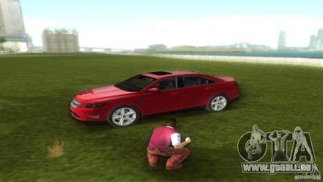 Ford Taurus pour GTA Vice City sur la vue arrière gauche