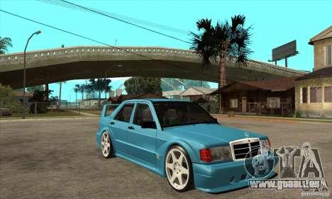 Mercedes-Benz w201 190 2.5-16 Evolution II für GTA San Andreas Rückansicht
