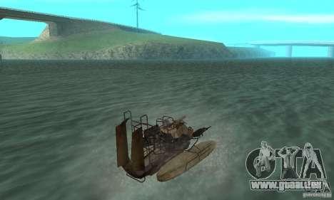 HL2 Airboat pour GTA San Andreas laissé vue