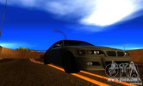 BMW M3 E46 TUNEABLE pour GTA San Andreas vue de droite